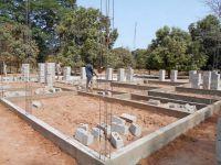 Construcció dels fonaments del edifici