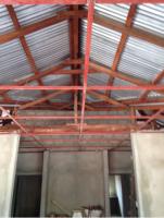 Col·locació perfils fals sobre sostre vestíbul