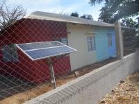 Tanca i panel solar